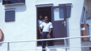 Captain and crew of the 'Lipi'.