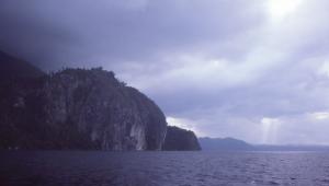Dramatic cliffs near Sawai.