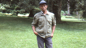 Local ranger and our host for the week we stayed at Cibodas.
