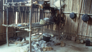 Typical cooking area in a Kanikeh home.