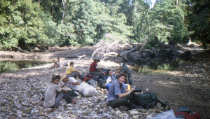 Venturers and porters taking a well earned rest.